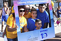Students and parents at the 10th Anniversary of Parent University